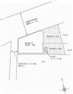 【区画図】土浦市荒川沖東1丁目一棟ビル