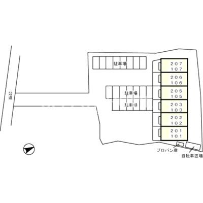 【区画図】ネオハイツみゆきII
