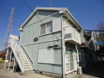 ペットOK♪ワンちゃんと一緒に暮らせる2階建てアパートです☆近隣に業務スーパーやコンビニがありお買い物に便利です♪