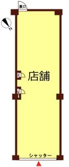 【区画図】NICハイム鶴見第6 1階店舗