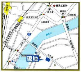 【地図】NICハイム鶴見第6 1階店舗