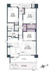 1階 角部屋 リフォーム済 3LDKの間取り 2018年建築 設備充実