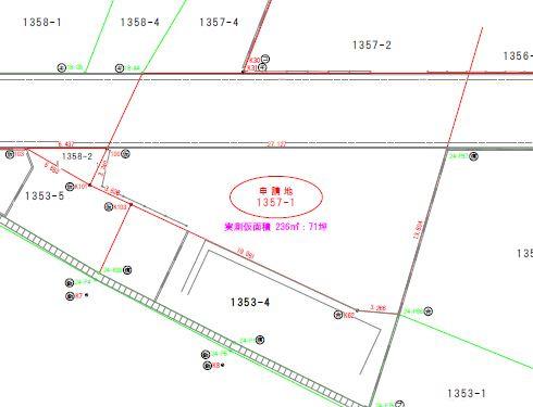 土地形状はこんな感じです。お好きなハウスメーカーで建築可能です。もちろんPLUSHOUSEでもご提案いたしますよ♬