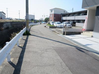 【前面道路含む現地写真】明石市松江 1号棟 新築戸建