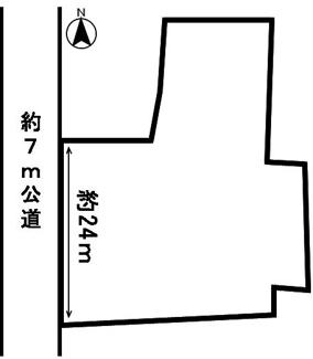 【区画図】53856 一宮市木曽川町黒田土地