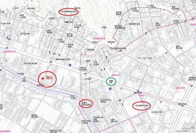 【地図】連島町西之浦 中古戸建