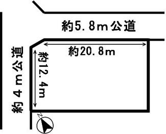 【区画図】54078 美濃加茂市加茂野町稲辺土地