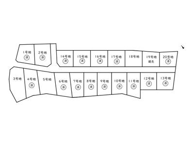 【区画図】夢前町寺売土地