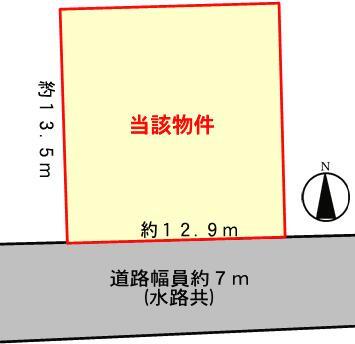 【区画図】姫路市網干区福井/売土地