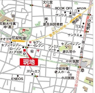 【地図】パシフィックコート中延