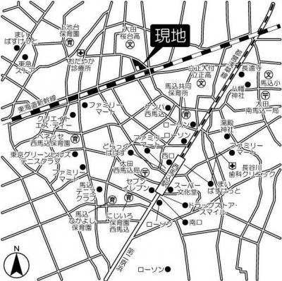 【地図】ケリア西馬込アジールコート