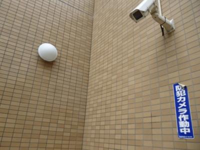 共用部分には防犯対策に有効な防犯カメラ付き!夜遅くに帰宅する時も、お出かけ時でも安心ですね♪