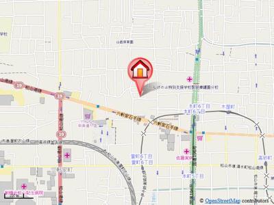【地図】花の町住宅