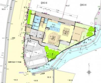 参考プラン2_配置図 3台駐車のプラン