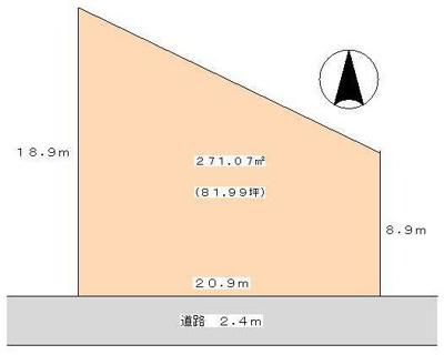 【区画図】姫路市網干区浜田/売土地