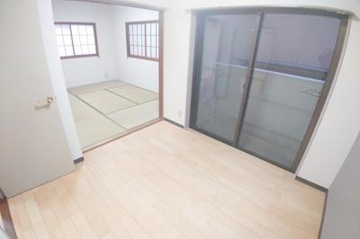 和室と洋室で広々空間!