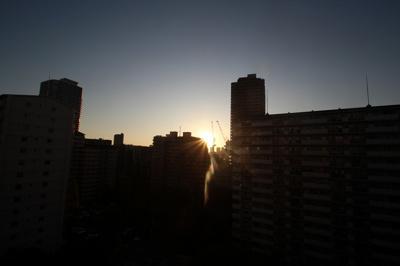 バルコニーから見る夕日が綺麗でしたよ♪