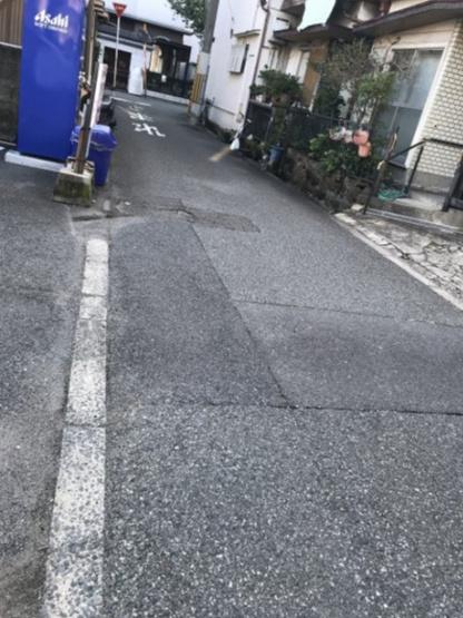 前道です。 前道3.64mもあるので、駐車も楽々ですね♪ 泉尾中公園までは、徒歩3分の距離☆お子様も大喜びですね(^^♪