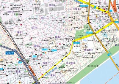 【地図】ラパンジール塚本