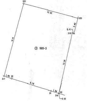 【土地図】安曇川町田中ニュータウン近く南向き62坪土地