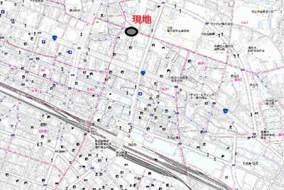 【地図】筑波1丁目売地