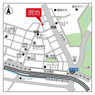【地図】麻布Tino