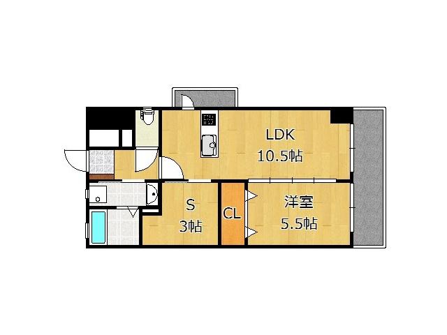 リビングと寝室をつなげて16帖の広さで使うことも可能♪