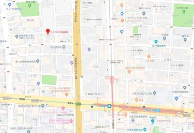 【地図】エスライズ梅田東