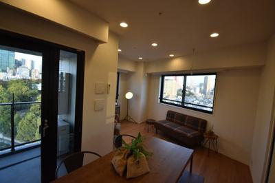 2面採光 こちらのお部屋 東京タワーが見えます。