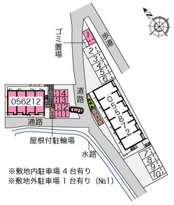 【地図】クレイノカサブランカ弐番館