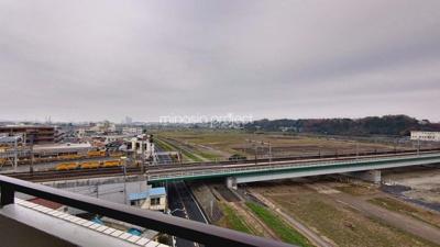 朝日多摩川プラザ:玄関側の眺望です