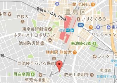 【地図】ディアコートイケブクロ