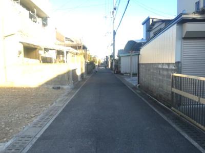 【前面道路含む現地写真】高知市福井町 売り土地