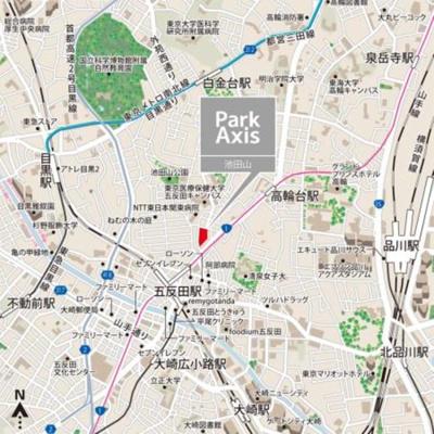 【地図】パークアクシス池田山