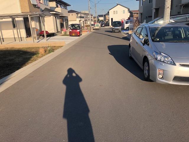 【前面道路含む現地写真】見川2丁目土地(見川JステージC区画)