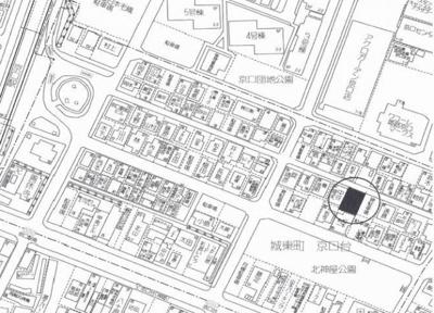【地図】城東町京口台売土地