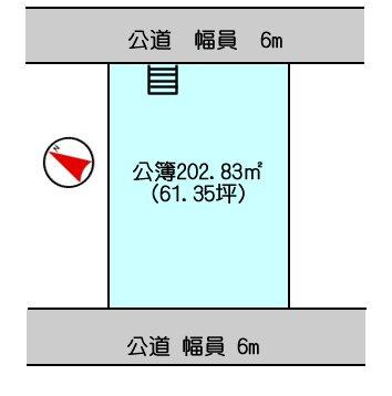 【区画図】姫路市梅ヶ谷町/売土地