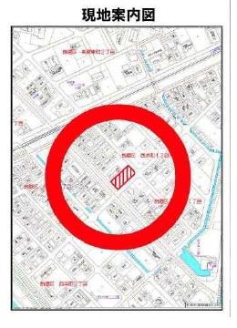 【地図】飾磨区西浜町1丁目売地3