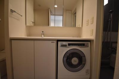 大きくて使い勝手の良い独立洗面台です。