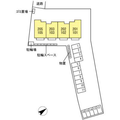 【地図】D-room大里Ⅱ