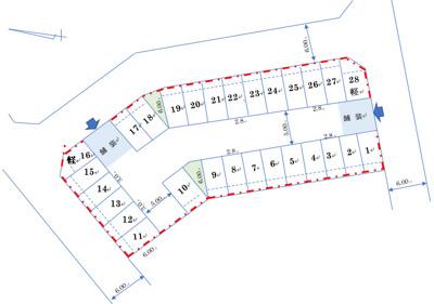 【区画図】44:増田174駐車場
