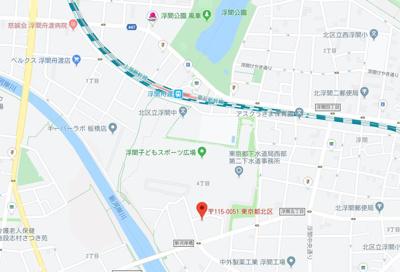 【地図】リガーレ浮間公園