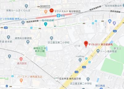 【地図】パティーナ桜台