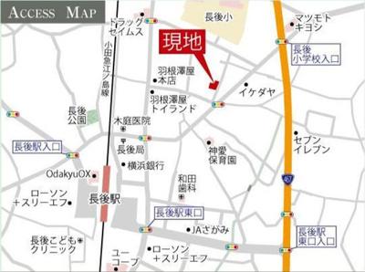 【地図】藤沢市長後 一戸建て