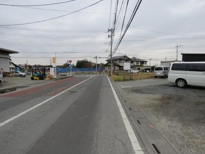 【前面道路含む現地写真】鶴ヶ島市太田ヶ谷売地
