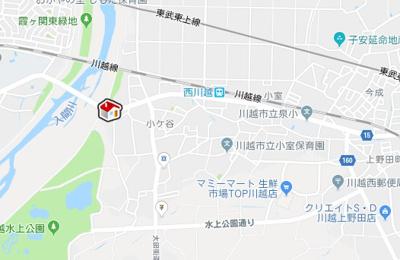 【地図】レオパレス楓(31061-210)