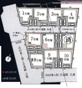 【区画図】清瀬市下清戸 全10棟 1号棟