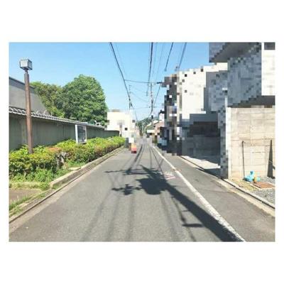 【前面道路含む現地写真】上京区土御門町 建築条件無し売土地