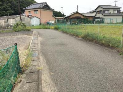 【前面道路含む現地写真】姫路市的形町/売土地