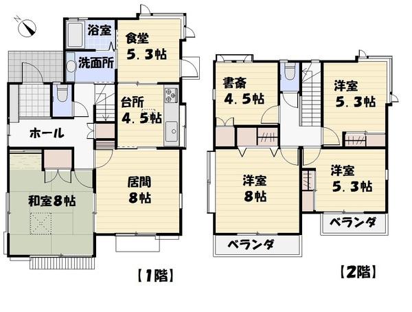 5人家族にも対応可能な部屋数の多い間取り